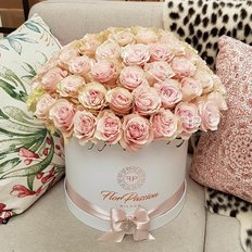 Pink Roses Box | Milan Florist FlorPassion | Million Roses Box