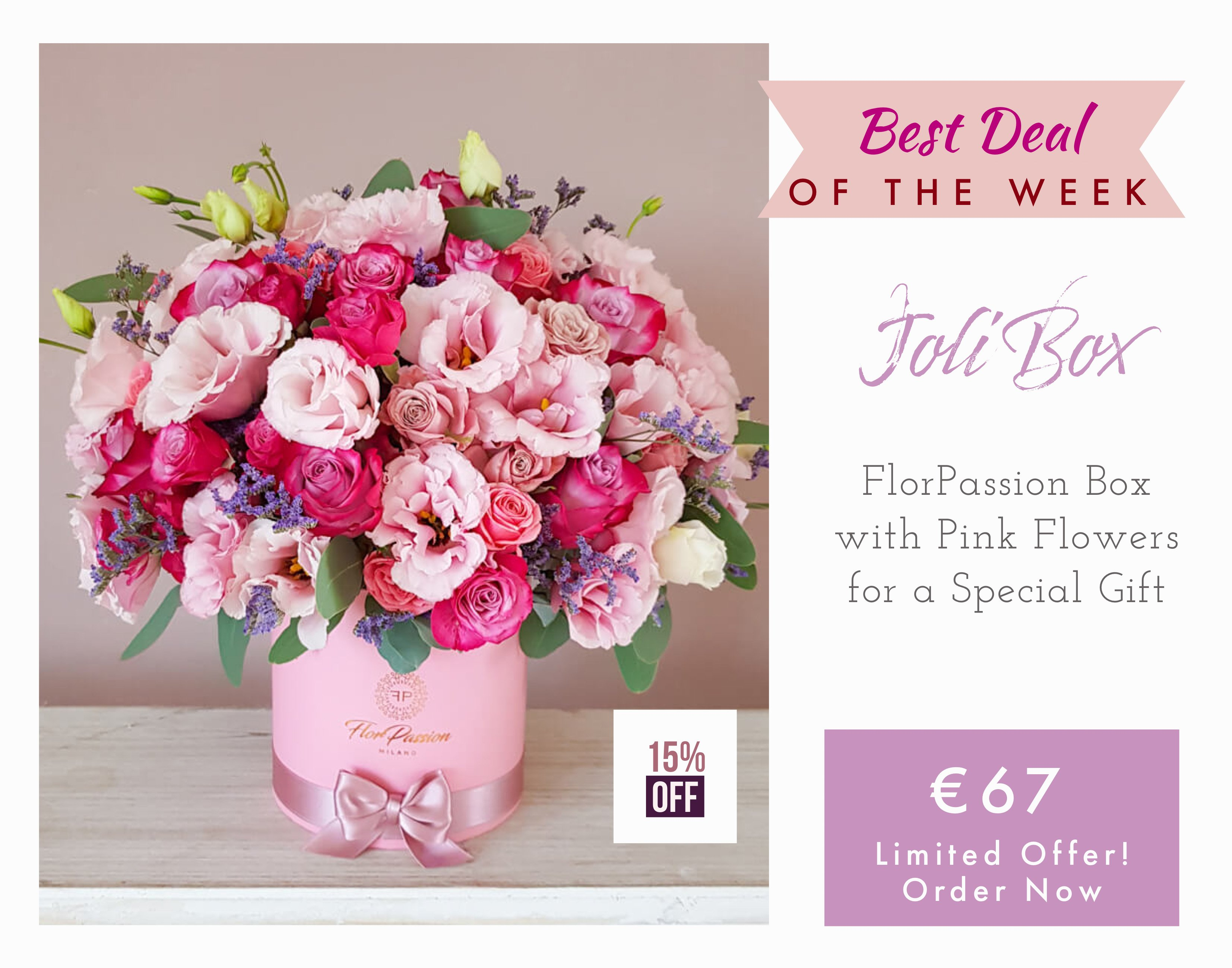 Joli FlorPassion Box Flower Delivery Milan