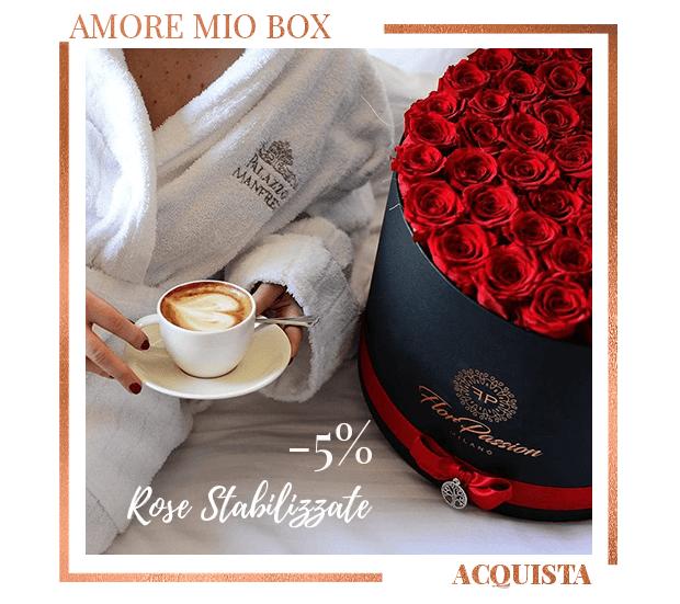 Box Rose Stabilizzate Amore Mio FlorPassion Milano