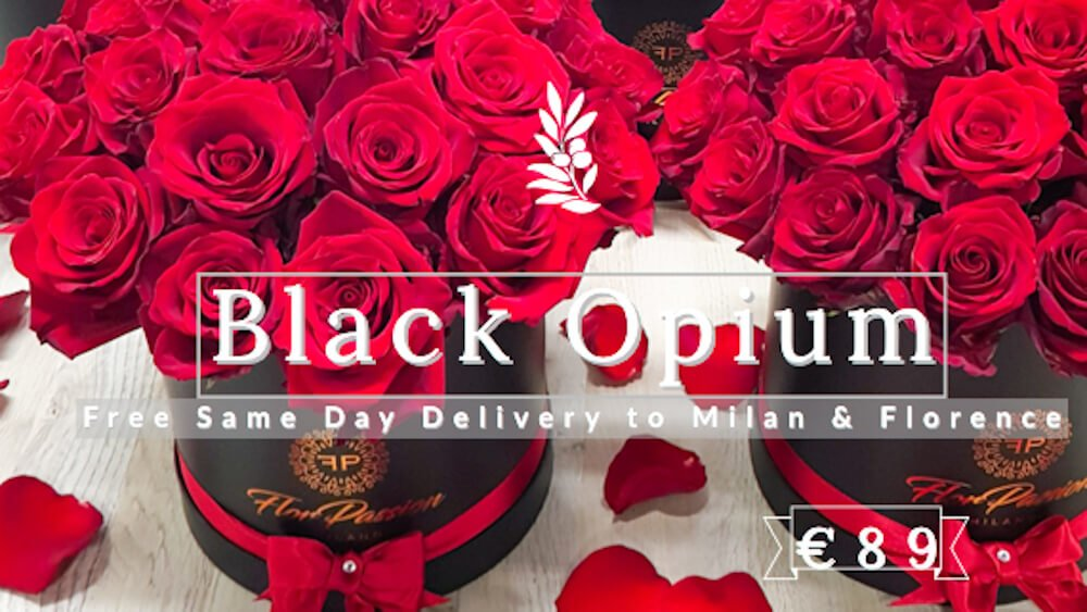 Black Opium Rose Box FlorPassion Milan
