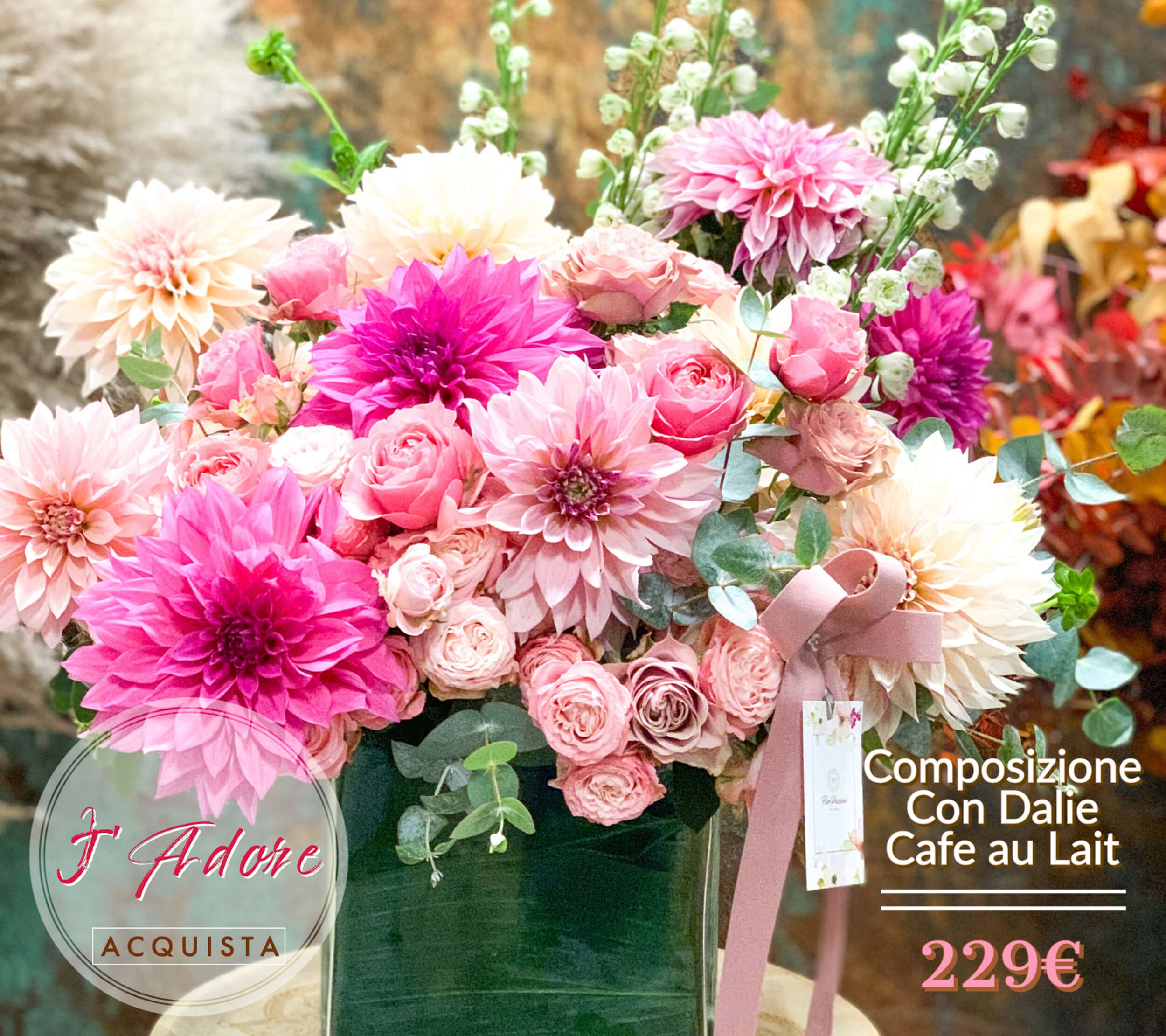 Dalia Cafe au Lait Flower Farm Fiori km0