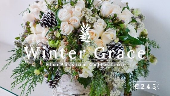 Winter Grace Christmas Flowers to Milan FlorPassio