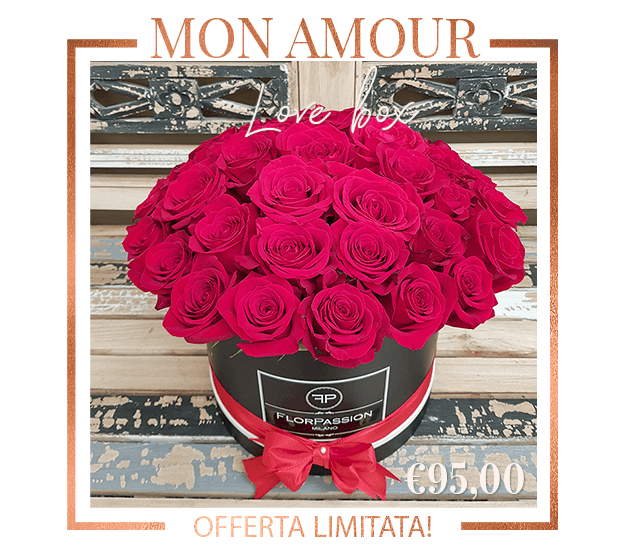 Mon Amour Rose in Scatola Milano FlorPassion