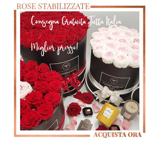 Scatola Rose Eterne Consegna Gratuita Italia