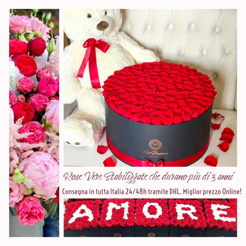 Consegna Rose Stabilizzate FlorPassion talia
