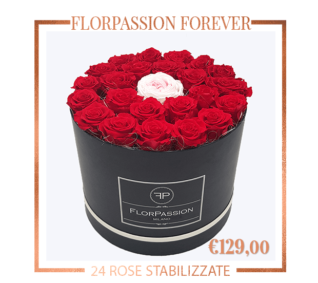 FlorPassion Forever Box Rose Stabilizzate