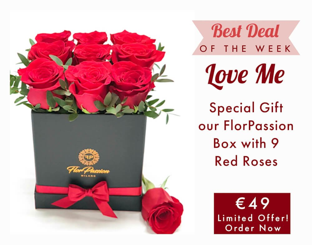 Send Flowers to Milan Red Roses Box