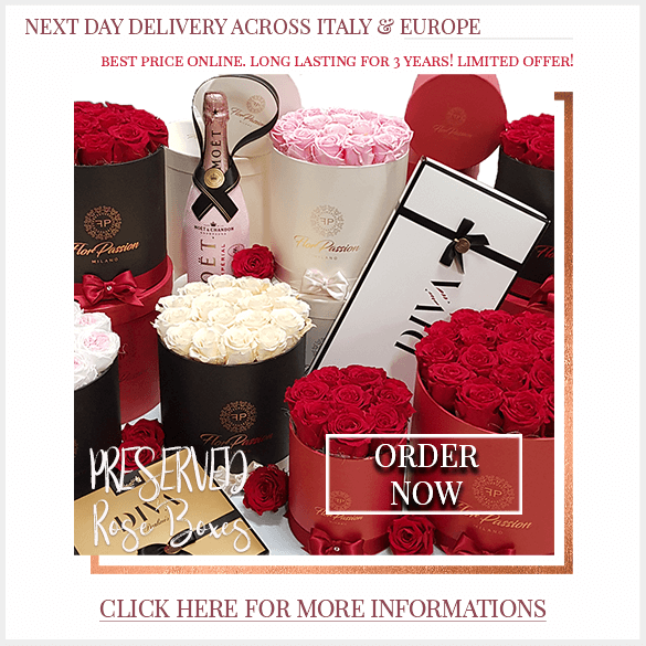Preserved Rose Box Delivery across Italy and Europ