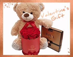 Regalo San Valentino Peluche Box Rose Cioccolatini