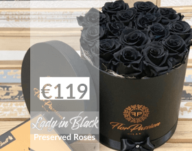 Preserved Black Roses Best Milan Florist