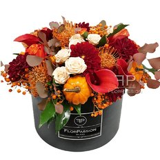 Autumn Flowers Box | Luxury Milan Florist Delivery
