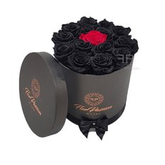 Everlasting Roses Box | Send Luxury Gift to Milan Italy