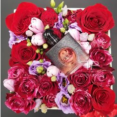 Profumo Black Opium in Scatola Regalo con Rose | FlorPassion Milano