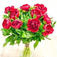 Bouquet Peonia Burgundy