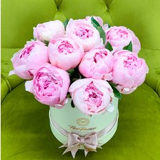 Flower Delivery Peony Box FlorPassion | Peonies deliver to Milan Monza Como