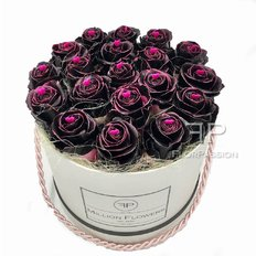 Rose Fresche immerse nel Cioccolato | Scatola Million Flowers | Fiorista Milano