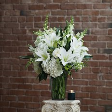 White Luxury Bouquet | Fragrant Lilium & Hydrangea