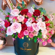 English Roses Box | FlorPassion Luxury Florist Milan