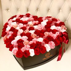 Heart Box Preserved Roses | Valentine