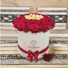 Scatola Rose | Rose Box | Ferrero Rocher e Rose Rosse | FlorPassion