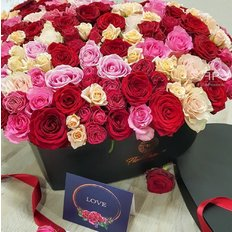 Heart with 99 Roses