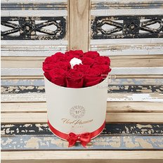 Everlasting Red Roses Box | Send Roses to Milan, Italy