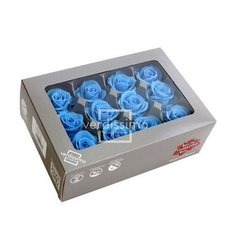 Light Blue Preserved Mini Roses, 12pcs