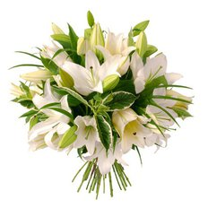 White Lilies Bouquet | Send Flowers to Milan | Local Florist