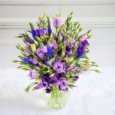 Purple Lisianthus Bouquet | Send Flowers Italy | FlorPassion Milan