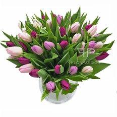 Bouquet Tulipani Rosa Fucsia Viola | Fiorista a Domicilio Milano