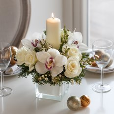 Christmas Centerpiece | Send Flowers to Milan Italy | FlorPassion