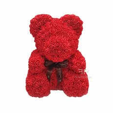 Orso Rose Rosse | Regalo originale Compleanno | Orsetto Rose