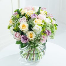 Pastel Flowers Bouquet | Milan Florist | Online Flower Shop