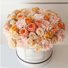 Box Rose e Fiori Pesco | Million Flowers by FlorPassion Milano