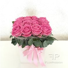 Pink Roses Vase | Same Day Flower Delivery Milan