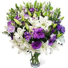 Lisianthus and Lillium Bouquet | Send Flowers to Italy | FlorPassion