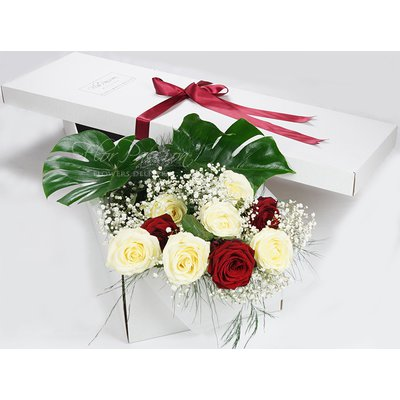 Rose Bianche e Rosse Gift Box