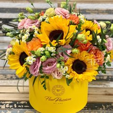 Bloom Box Sunflower | Same Day Flowers to Milan Italy