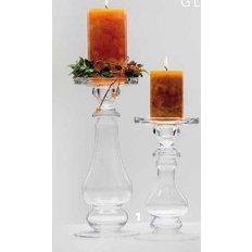 TRANSPARENT SHINE GLASS CANDLE HOLDER