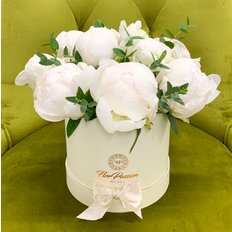 White Peonies Same Day Flowers Delivery to Milan Monza Como Erba