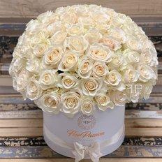 White Roses Dome Box