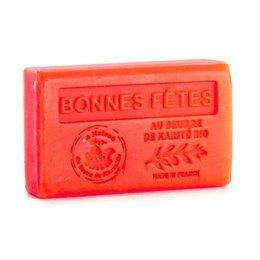 Săpun 125g cu Unt de Karité bio - BONNES FETES - Turta dulce