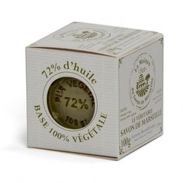 Sapun de Marsilia in cutie - Cub 100g 72% Ulei de Masline