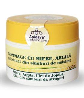GOMMAGE CU MIERE SI ARGILA- Apidava, 50ml