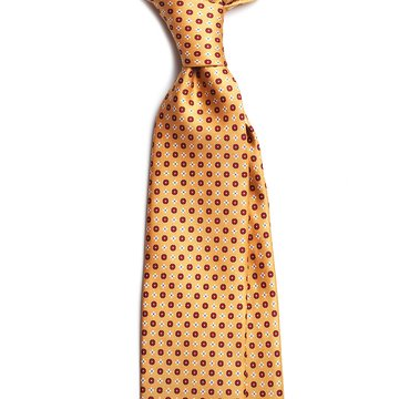 Floral Silk tie - Burnt Yellow