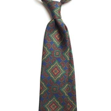 Geometric Silk tie - Navy