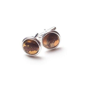 Metallic Rust Cufflinks