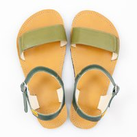 Adjustable strap sandals - Olive & Mustard - in stock