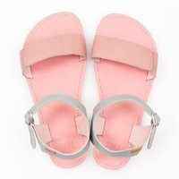 Adjustable strap sandals - Pink & Grey - in stock