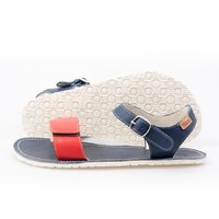 Adjustable strap sandals - Red & Navy - in stock